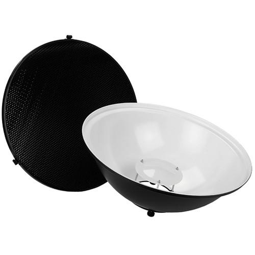 "FotodioX Pro Beauty Dish Kit with 50-Degree Honeycomb Grid Novatron M and FC Flash Heads (18"")"