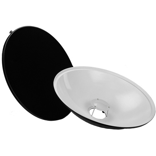 """FotodioX Pro Beauty Dish Kit with 50-Degree Honeycomb Grid Nissin Flashes (28"""")"""