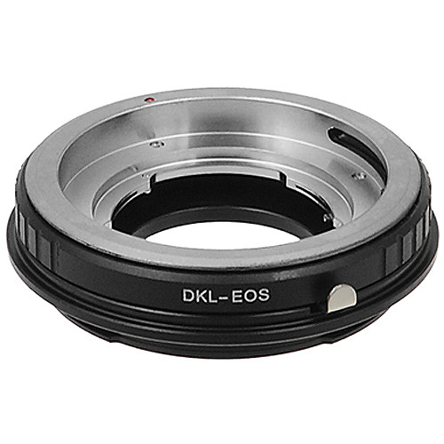FotodioX Pro Lens Mount Adapter for DKL Lens to Canon EF-Mount Camera with Dandelion Focus Confirmation Chip