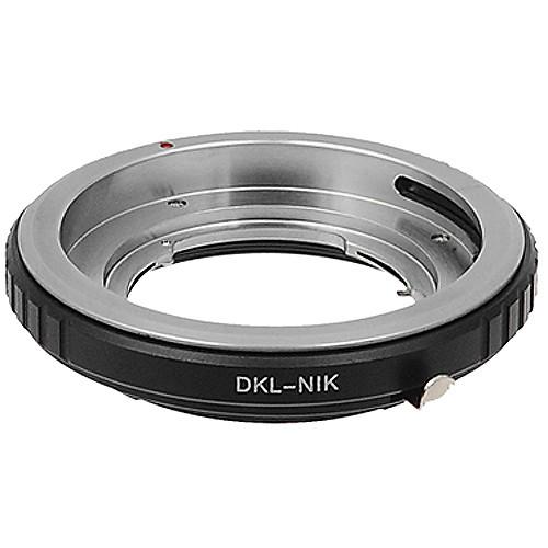 FotodioX Pro Lens Mount Adapter for DKL Lens to Nikon F Mount Camera