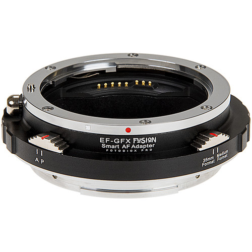 FotodioX Pro Fusion Smart Auto-Focus Adapter for Canon EF- or EF-S-Mount Lens to FUJIFILM G-Mount GFX Camera