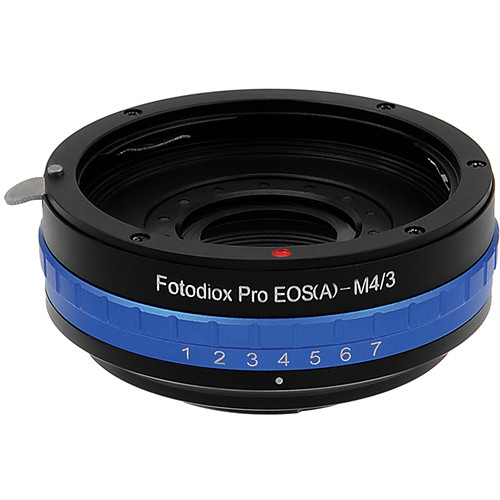 FotodioX Canon EF Pro Lens Adapter with Built-In Iris Control for Micro Four Thirds Cameras