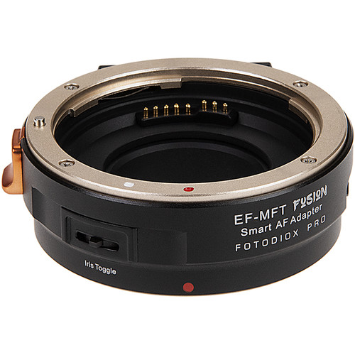 FotodioX Pro Fusion Smart AF Adapter for Canon EF Lens to Micro Four Thirds Camera