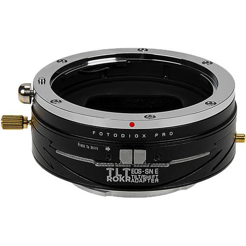 FotodioX Pro TLT ROKR Tilt-Shift Adapter for Canon EF or EF-S Lens to Sony E Camera