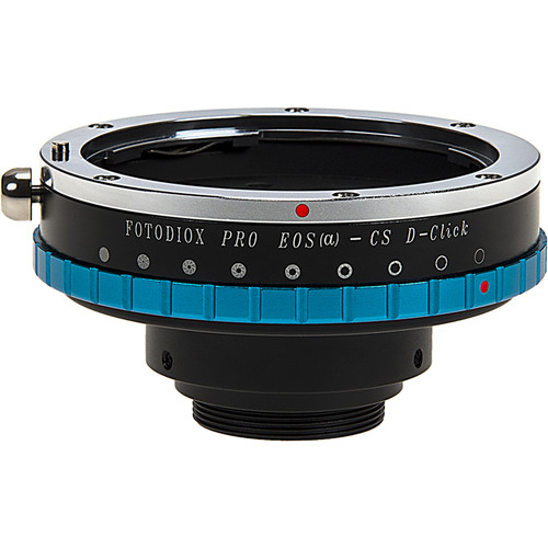 FotodioX Canon EF/EF-S Pro Lens Mount Adapter with Aperture Iris for CS-Mount Cine & CCTV Cameras