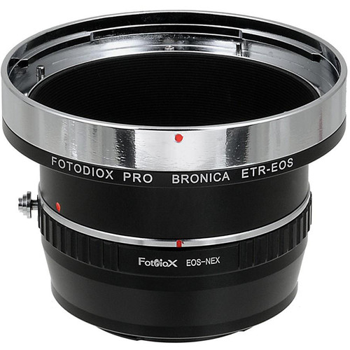 FotodioX Pro Mount Adapter for Bronica ETR Lens to Sony E-Mount Camera