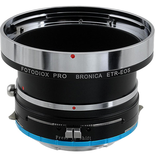FotodioX Pro Shift Mount Adapter for Bronica ETR Lens to Sony E-Mount Camera
