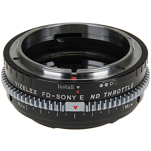 FotodioX Vizelex Cine ND Throttle Lens Mount Adapter for Canon FD or FL-Mount Lens to Sony E-Mount Camera