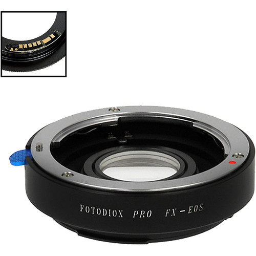 FotodioX Pro Lens Mount Adapter with Generation v10 Focus Confirmation Chip for Fujica X-Mount Lens to Canon EF or EF-S Mount Camera