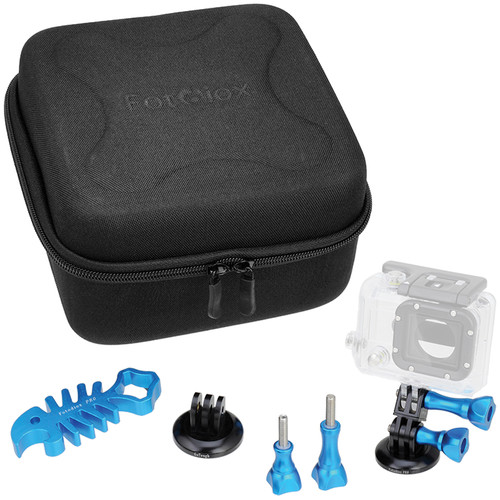 FotodioX GoTough CamCase Double Kit for GoPro HERO1, 2, 3/3+, & 4 (Artic Blue)