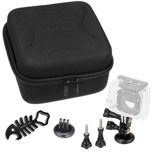 FotodioX GoTough CamCase Double Kit for GoPro HERO1, 2, 3/3+, & 4 (Pitch Black)