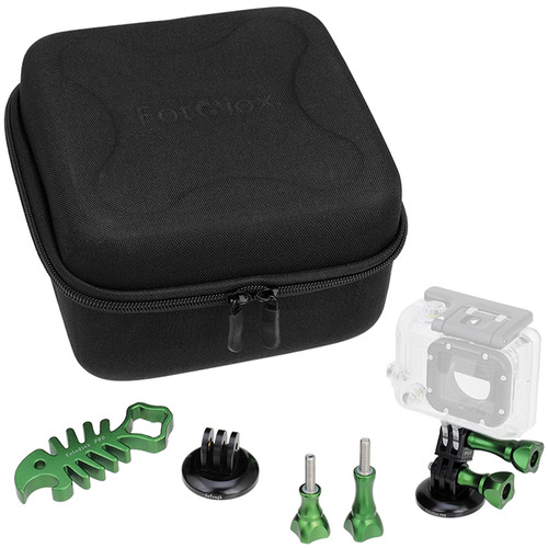 FotodioX GoTough CamCase Double Kit for GoPro HERO1, 2, 3/3+, & 4 (Guerrilla Green)