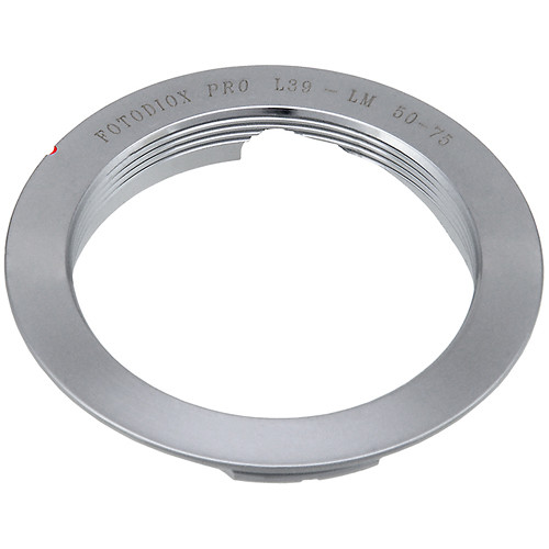 FotodioX Pro Lens Adapter for M39/L39 Lens to Leica M Camera (50/75mm Frame Lines)