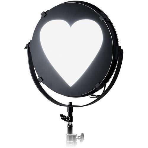 "FotodioX Heart Catchlight Mask for Pro FACTOR Jupiter Light (12"")"