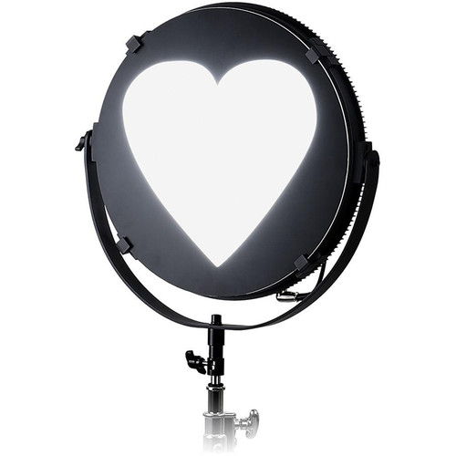 "FotodioX Heart Catchlight Mask for Pro FACTOR Jupiter Light (24"")"