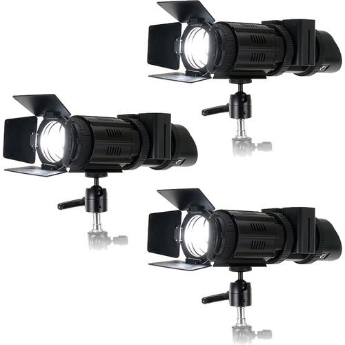 FotodioX Pro PopSpot J-500 Focusing Daylight LED 3-Light Kit