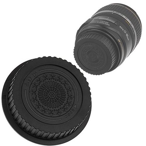 FotodioX Designer Rear Lens Cap for Canon EOS EF & EF-S-Mount Lenses (Black)