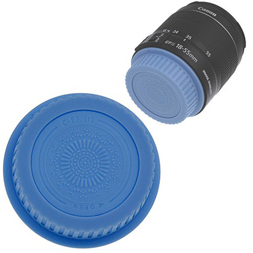 FotodioX Designer Rear Lens Cap for Canon EOS EF & EF-S-Mount Lenses (Blue)