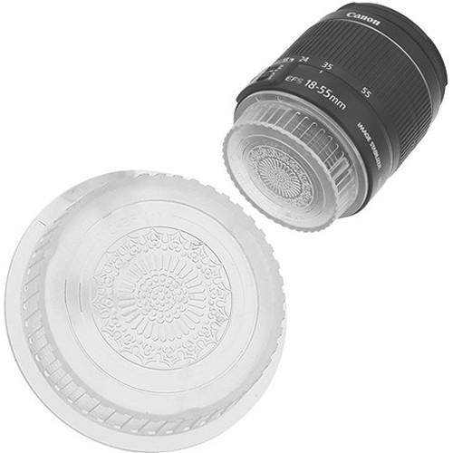 FotodioX Designer Rear Lens Cap for Canon EOS EF & EF-S-Mount Lenses (Clear)