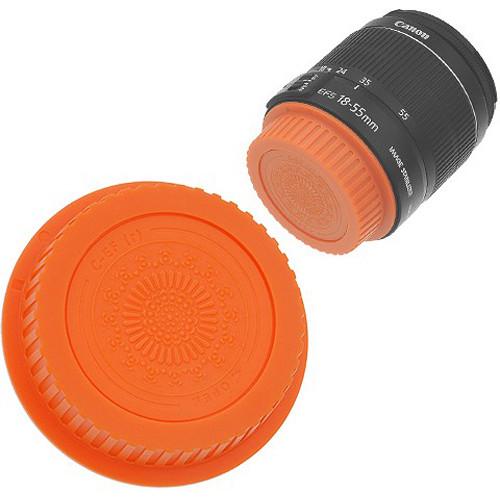 FotodioX Designer Rear Lens Cap for Canon EOS EF & EF-S-Mount Lenses (Orange)
