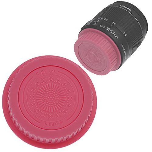 FotodioX Designer Rear Lens Cap for Canon EOS EF & EF-S-Mount Lenses (Pink)