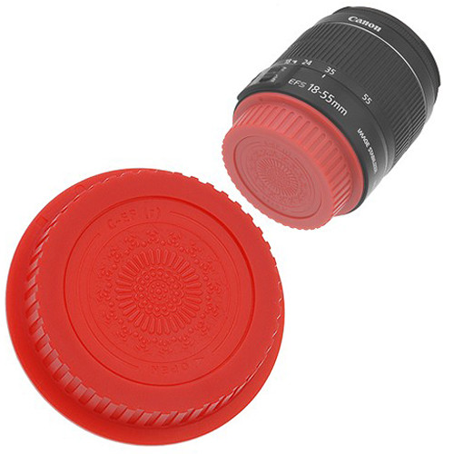 FotodioX Designer Rear Lens Cap for Canon EOS EF & EF-S-Mount Lenses (Red)