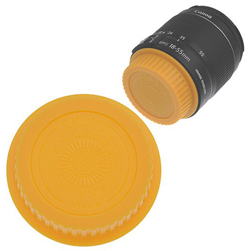 FotodioX Designer Rear Lens Cap for Canon EOS EF & EF-S-Mount Lenses (Yellow)