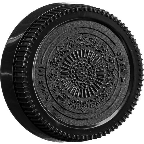 FotodioX Designer Rear Lens Cap for Nikon F-Mount Lenses (Black)