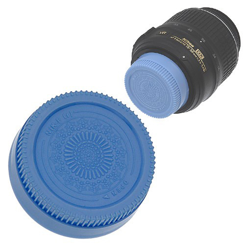 FotodioX Designer Rear Lens Cap for Nikon F-Mount Lenses (Blue)
