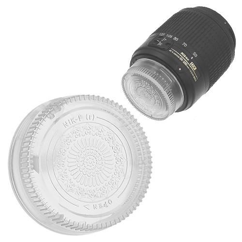 FotodioX Designer Rear Lens Cap for Nikon F-Mount Lenses (Clear)