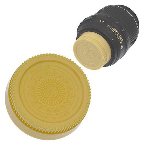 FotodioX Designer Rear Lens Cap for Nikon F-Mount Lenses (Gold)