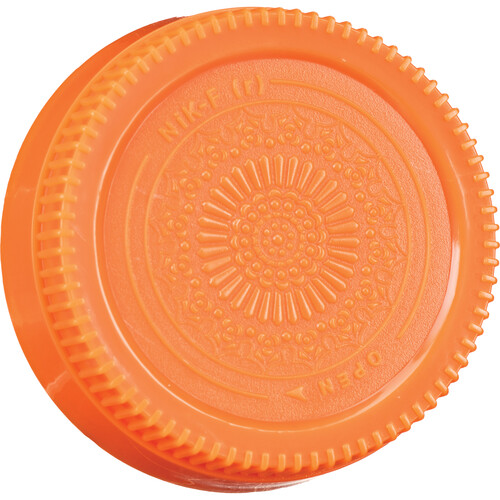 FotodioX Designer Rear Lens Cap for Nikon F-Mount Lenses (Orange)