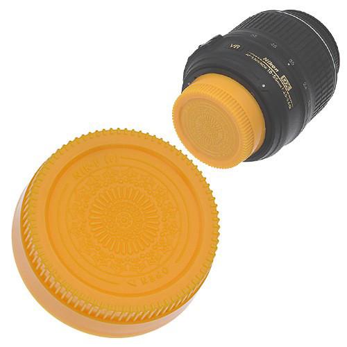 FotodioX Designer Rear Lens Cap for Nikon F-Mount Lenses (Yellow)