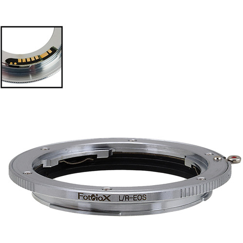 FotodioX Lens Mount Adapter with Generation v10 Focus Confirmation Chip for Leica R-Mount Lens to Canon EF or EF-S Mount Camera