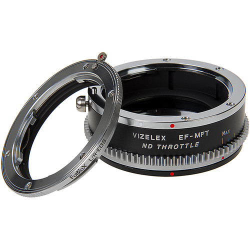FotodioX Vizelex Cine ND Throttle Double Adapter-Leica R SLR Canon EOS Lenses to Micro Four Thirds Mount