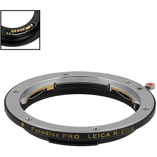FotodioX Pro Lens Mount Adapter with Generation v10 Focus Confirmation Chip for Leica R-Mount Lens to Canon EF or EF-S Mount Camera