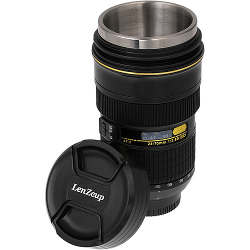 FotodioX LenZcup Replica Zoomable Nikkor AF-S 24-70mm f/2.8G ED Lens Thermo Cup (Black)
