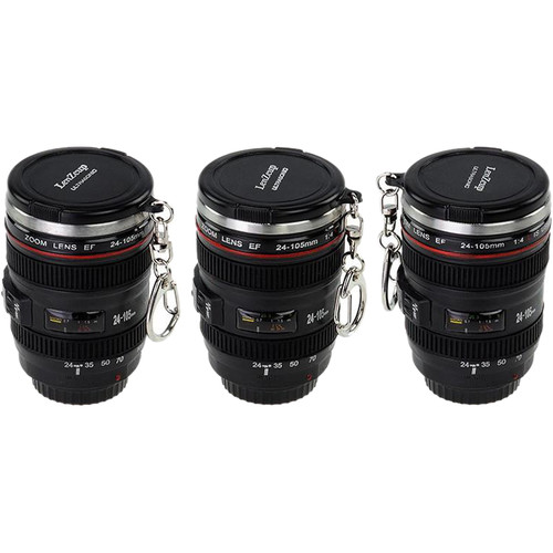 FotodioX LenZcup Canon EF 24-105mm f/4L IS USM Replica Shot Glass Keychains (Set of 3)
