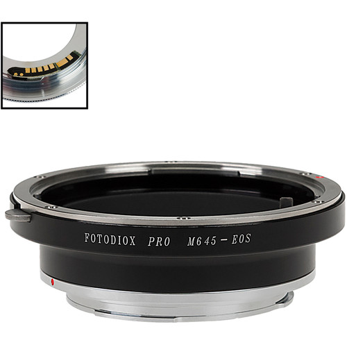 FotodioX Pro Lens Mount Adapter Compatible with Mamiya 645 Mount Lenses to Canon EF and EF-S Mounts