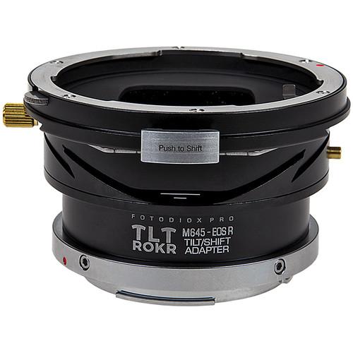 FotodioX Pro TLT ROKR Tilt/Shift Lens Mount Adapter for Mamiya 645 Lens to Canon RF Mount Camera Body