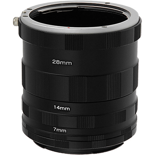 FotodioX Macro Extension Tube Set for Sony A-Mount (and Minolta AF) Cameras: for Extreme Close-Up Photography
