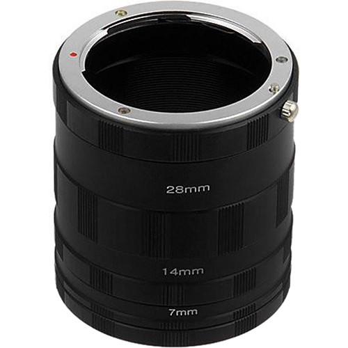 FotodioX Macro Extension Tube Set for Sony Alpha E-Mount Cameras: for Extreme Close-Up Photography