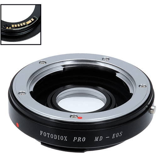 FotodioX Pro Lens Mount Adapter with Generation v10 Focus Confirmation Chip for Minolta SR / MD / MC-Mount Lens to Canon EF or EF-S Mount Camera