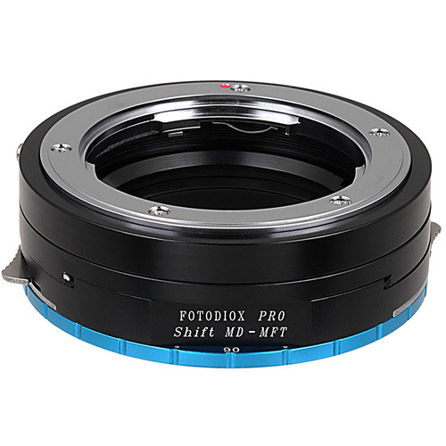 FotodioX Pro Lens Mount Shift Adapter for Minolta MD-Mount Lens to Select Micro Four Thirds-Mount Cameras