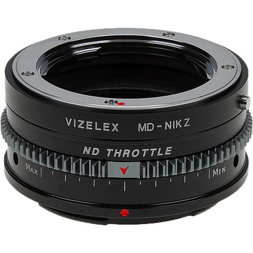 FotodioX Vizelex Cine ND Throttle Lens Mount Adapter for Minolta MD Lens to Nikon Z-Mount Camera