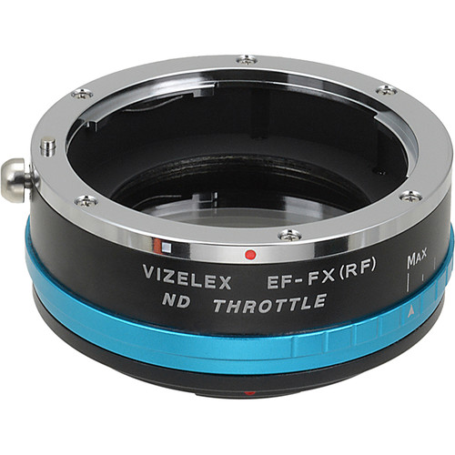 FotodioX Vizelex ND Throttle Canon EOS (EF, EF-S) to Fujifilm X-Series Mirrorless Camera Lens Mount Adapter with Built-in Variable ND Filter
