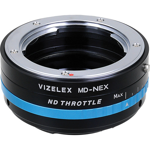 FotodioX Minolta MD Lens to Sony E-Mount Camera Vizelex ND Throttle Adapter