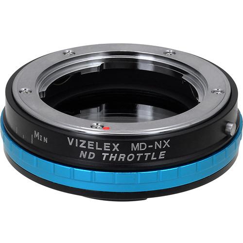 FotodioX Vizelex ND Throttle Minolta MD/MC/SR Rokkor Lens to Samsung NX Camera Lens Mount Adapter with Built-in Variable ND Filter