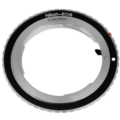 FotodioX Mount Adapter with Focus Confirmation Chip for Nikon F-Mount Lens to Canon EOS Camera