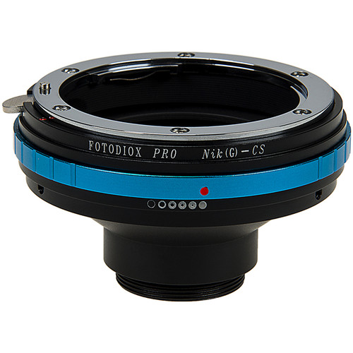 FotodioX Nikon F Mount G-Type Pro Lens Mount Adapter with Aperture Dial for CS-Mount Cine & CCTV Cameras